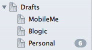 Drafts folders screenshot